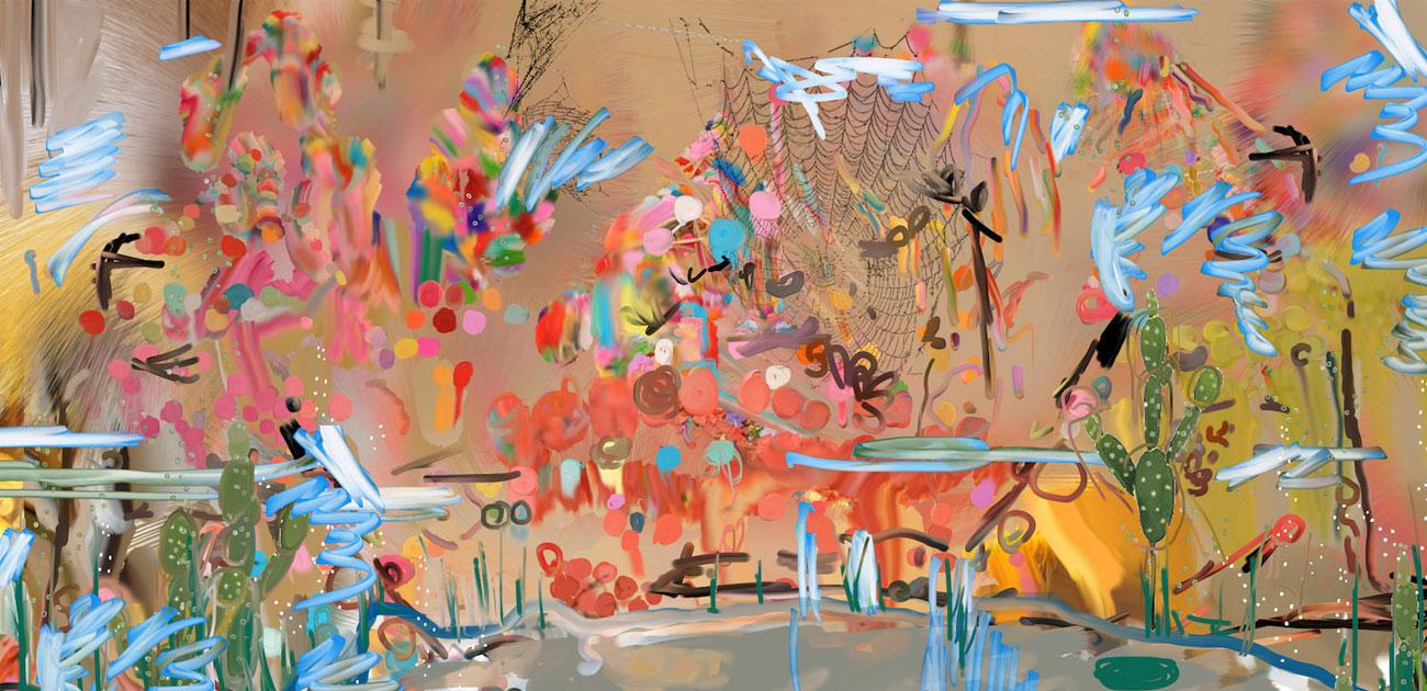 Ecrans de fumée par Julien Bécourt Petra Cortright, digital painting